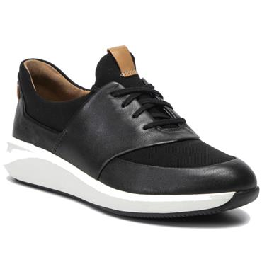 - Clarks Un Rio Lace - Black Leather