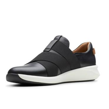 - Clarks Un Rio Strap - Black Leather