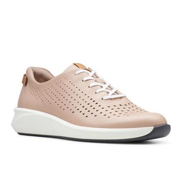 - Clarks Un Rio Tie - Blush Leather