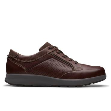 Clarks Un Trail Form-Mahogany Leather