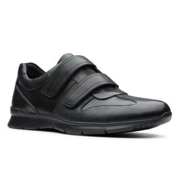 Clarks Un Tynamo Turn-Black Leather