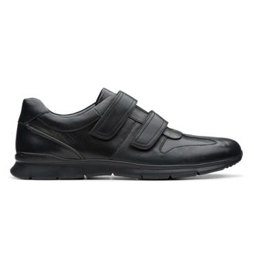 - Clarks Un Tynamo Turn - Black Leather