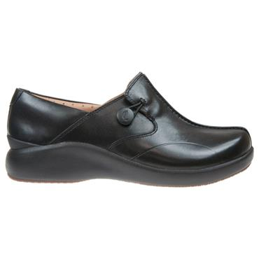 - Clarks Un.Loop2 Walk - Black Leather