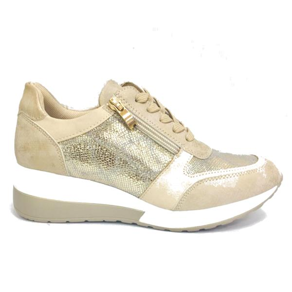 Redz Ventry Wedge Lace Shoe-GOLD