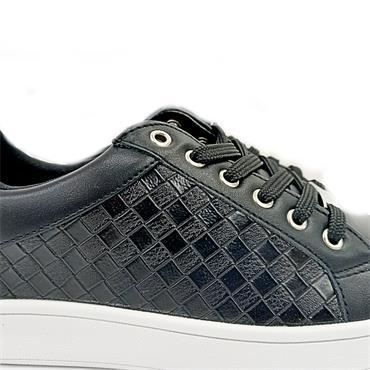 Drilleys Weave Casual Shoe-BLACK