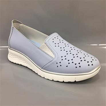 Drilleys Wedge Shoe-BLUE