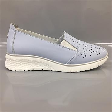 Drilleys Wedge Shoe-BLUE