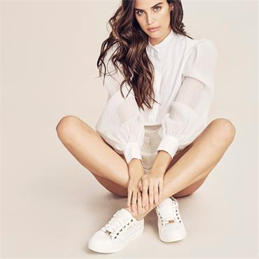 Tommybowe Woodman Casual Shoe-White Leather