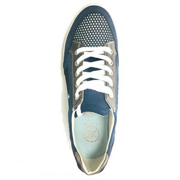 Zanni Zeboim Csual Wedge Shoe - Cobalt Mix
