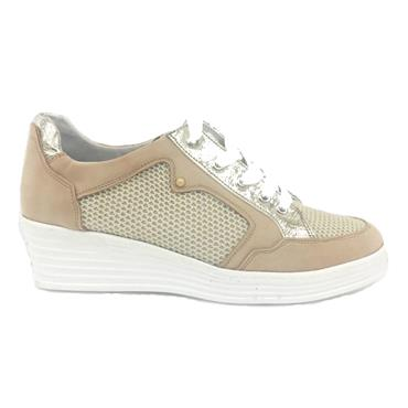 Zanni Zeboim Csual Wedge Shoe-GOLD