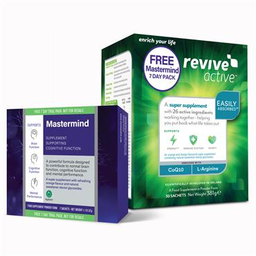 Revive Active 30 Sachets + Free Mastermind 7 Day Pack