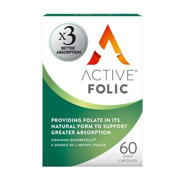 Active Folic Better Absorption Folic Acid 60 Capsules