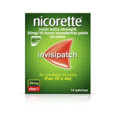 Nicorette Invisipatch Step 1 25mg 14 Pack