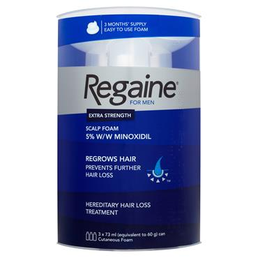 Regaine For Men Extra Strength Scalp Foam 5% Minoxidil 3 Month Supply