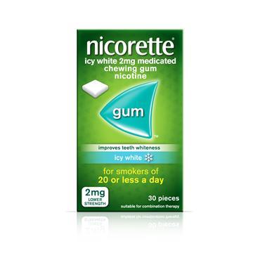 Nicorette Icy White 2mg Gum 30 Pack