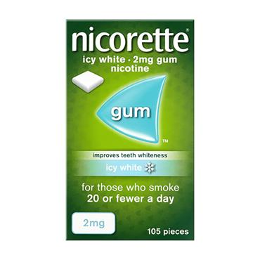 Nicorette Icy White 2mg Gum 105 Pack