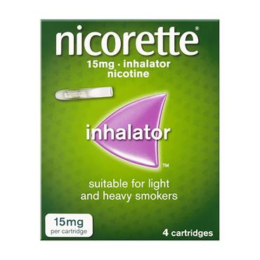 Nicorette 15mg Inhaler Nicotine 4 Cartridges