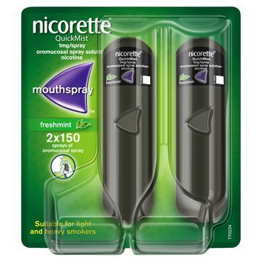 Nicorette QuickMist Freshmint 1mg Spray Double Pack