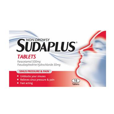 Sudaplus Tablets 15 Pack