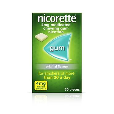 Nicorette Original 4mg Gum 30 Pack