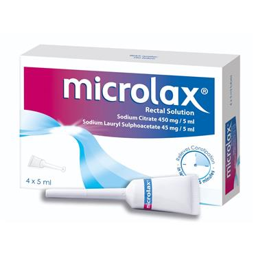 Microlax Rectal Solution 4 Pack