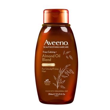 Aveeno Frizz Calming Almond Oil Blend Shampoo For Unruly Frizzy Hair 354ml
