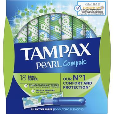 Tampax Compak Pearl Super 18 Pack
