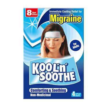 Kool n Soothe Migraine Soft Gel Sheets 4 Pack
