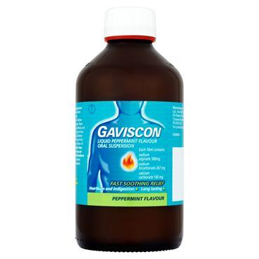 Gaviscon Liquid Oral Solution Peppermint 600ml