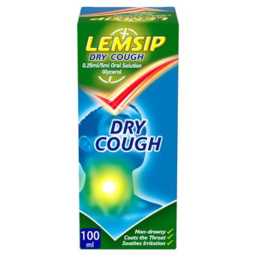 Lemsip Dry Cough Oral Solution Glycerol 100ml