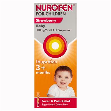 Nurofen For Children 3months+ Strawberry 200ml