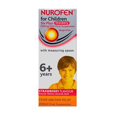 Nurofen For Children 6+ Strawberry 200ml