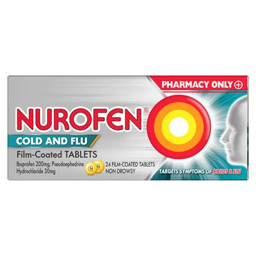 Nurofen Cold & Flu 200mg/30mg Film Coated Tablets 24 Pack