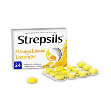 Strepsils Honey & Lemon Lozenges 24 Pack