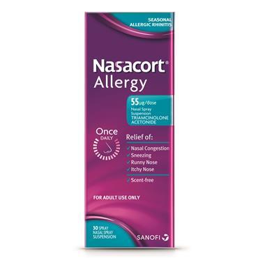 Nasacort Allergy Nasal Spray 55mcg Triamcinolone Acetonide 30 Spray