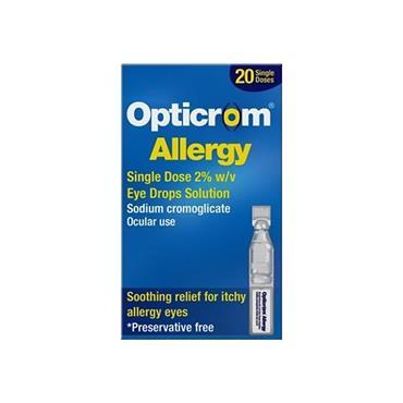 Opticrom Allergy Single Dose 2% Eye Drops 20 Pack