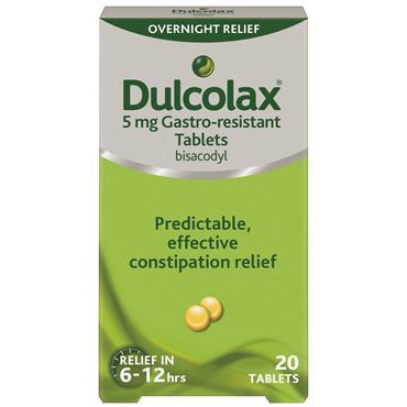 Dulcolax 5mg Bisacodyl 20 Tablets