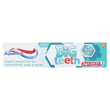 Aquafresh Big Teeth Toothpaste 6-8years 50ml