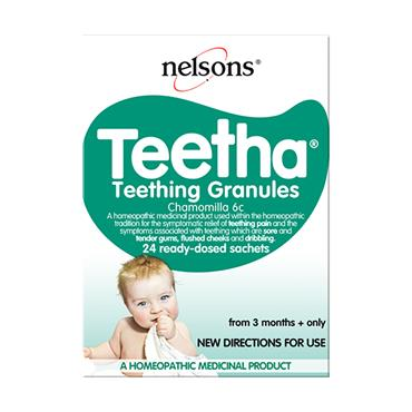 Nelsons Teetha Teething Granules 24 Pack