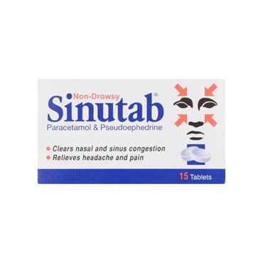 Sinutab Tablets 15 Pack