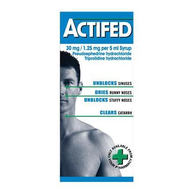 Actifed 30mg/1.25mg/ 5ml Syrup 100ml