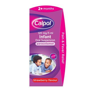 Calpol 2months+ Oral Suspension Strawberry 140ml