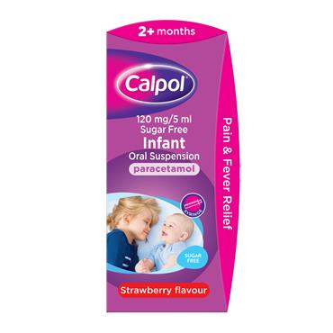 Calpol Infant 2months+ Oral Suspension Strawberry 140ml