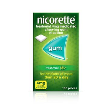 Nicorette Freshmint 4mg Gum 105 Pack
