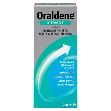Oraldene Antibacterial Mouthwash Icemint 200ml