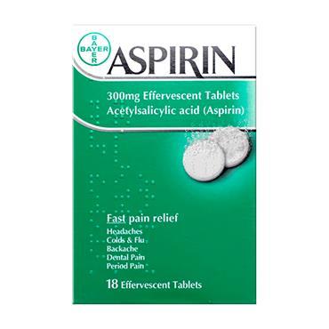 Aspirin 300mg Effervescent Tablets 18 Pack