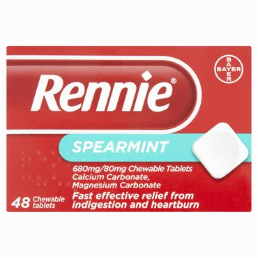 Rennie Spearmint Tablets 48 Pack
