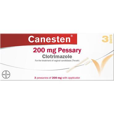 Canesten Clotrimazole 200mg Pessary 3 Days