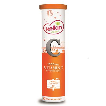 Kelkin Vitamin C Effervescent Tablets 20 Pack