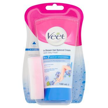 Veet In Shower Hair Removal Cream For Body & Legs Sensitive Skin 150ml